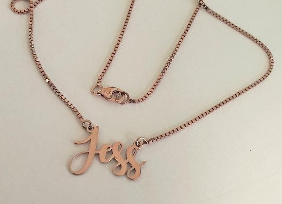 Script custom necklace