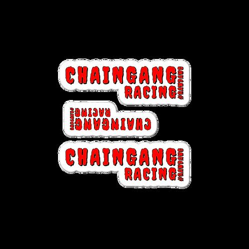 Chaingang Racing #Rawdawg Stickers 3 Pack
