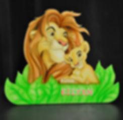 décoration chambre d'enfants  lampe de chevet lion