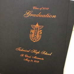 Foil on School Graduation Program