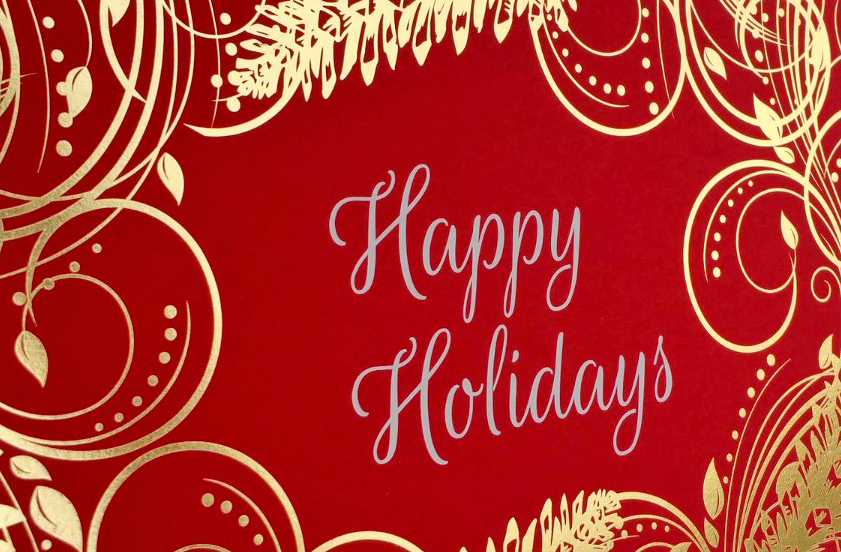 Foil on Holiday Card