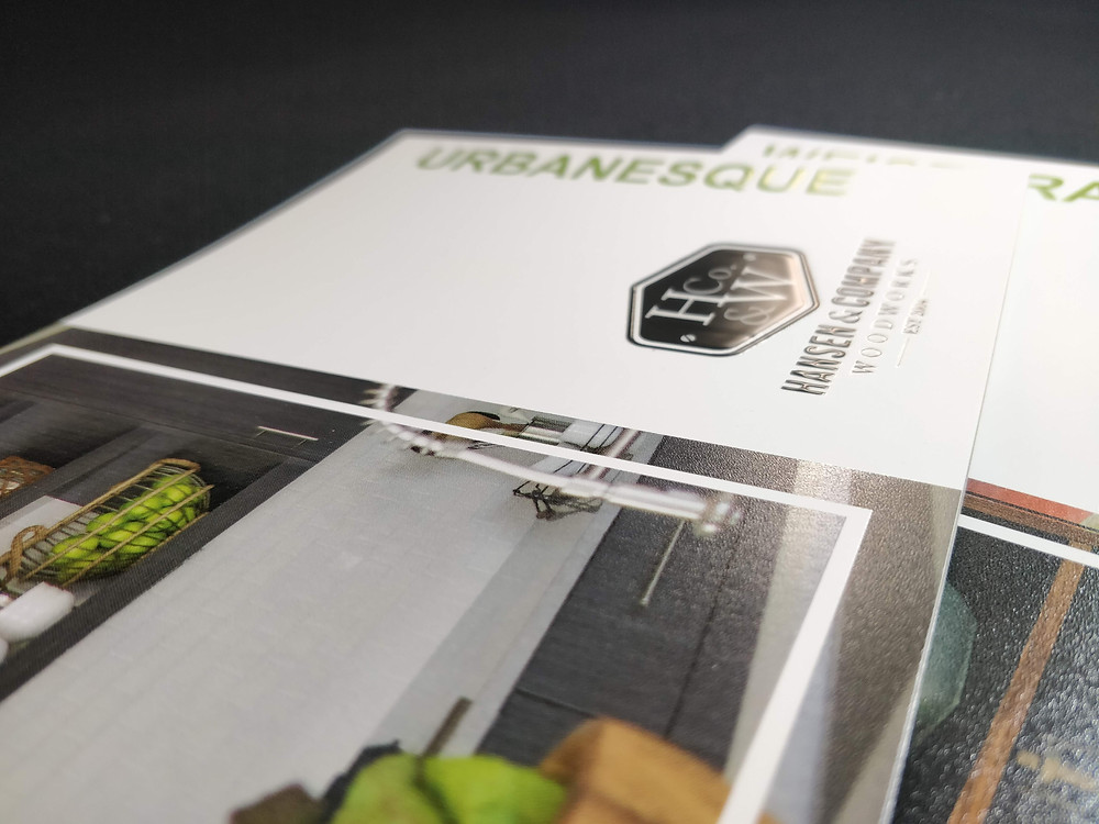 Vivid UV featured on Hansen & Company Woodworks booklet cover