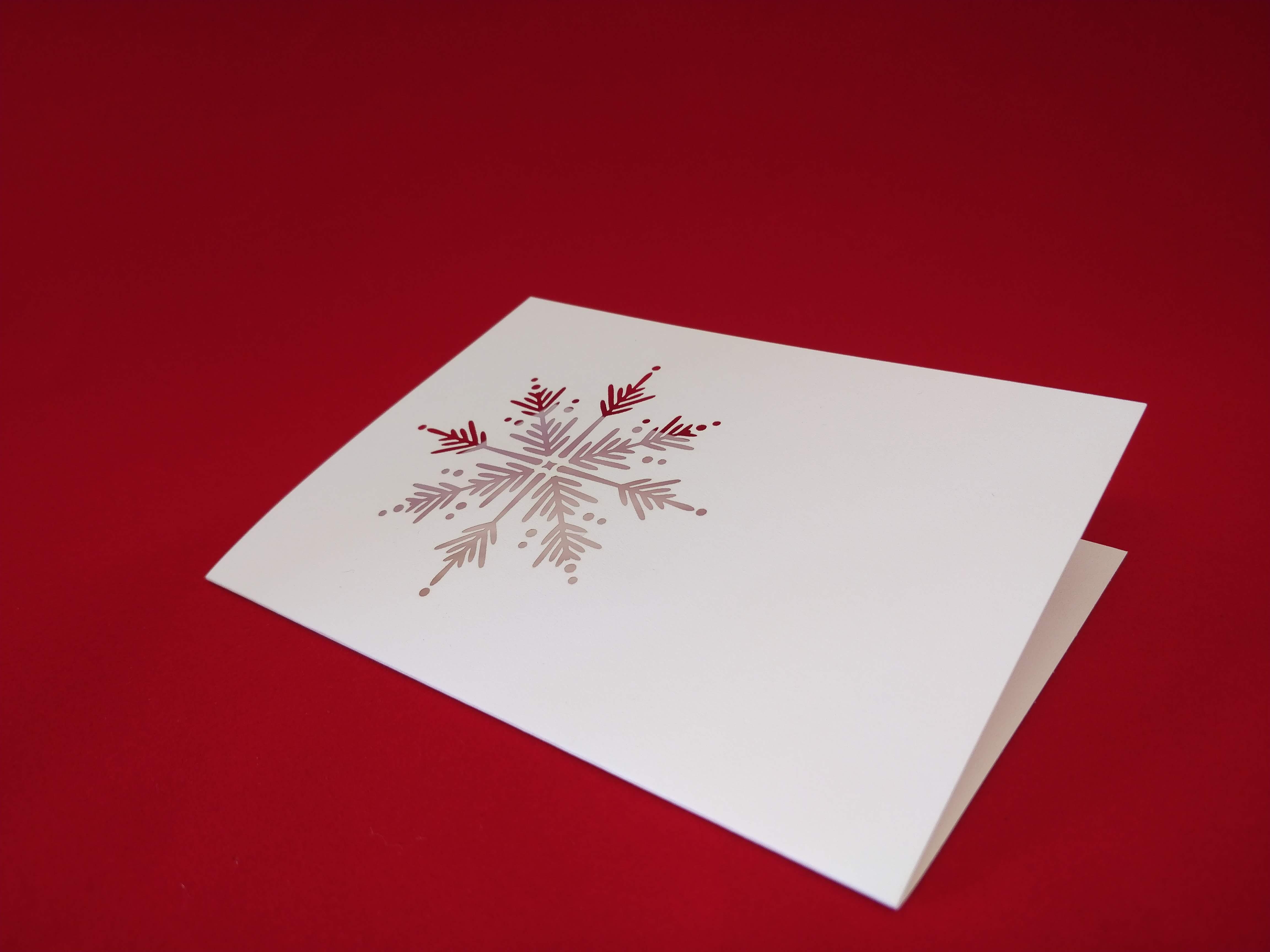 Laser Cut Snowflake on Card