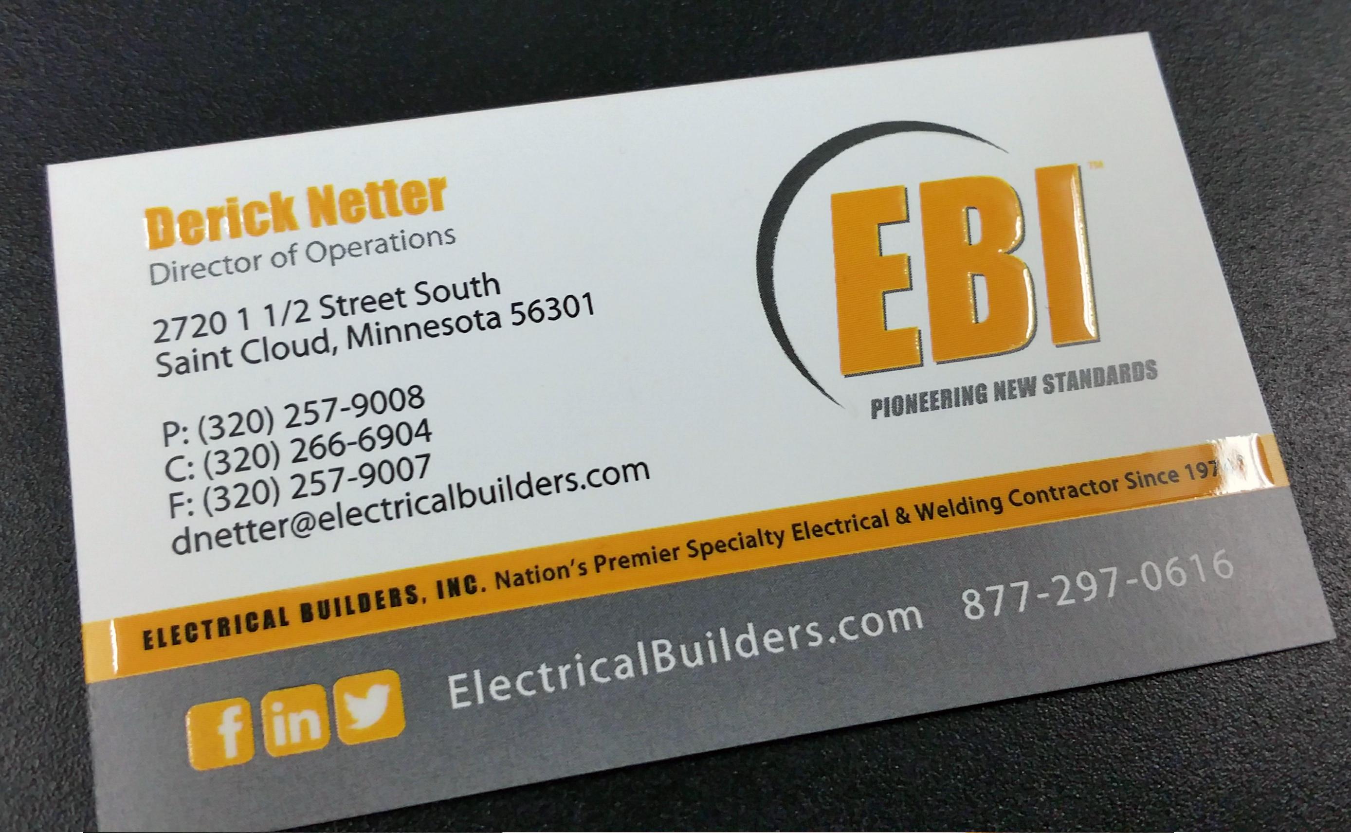 EBI Business Card with Vivid UV