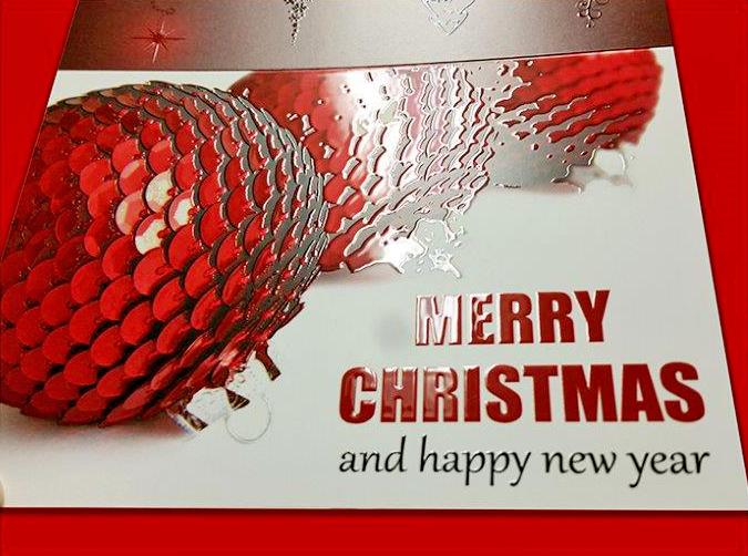Christmas Card with Vivid UV