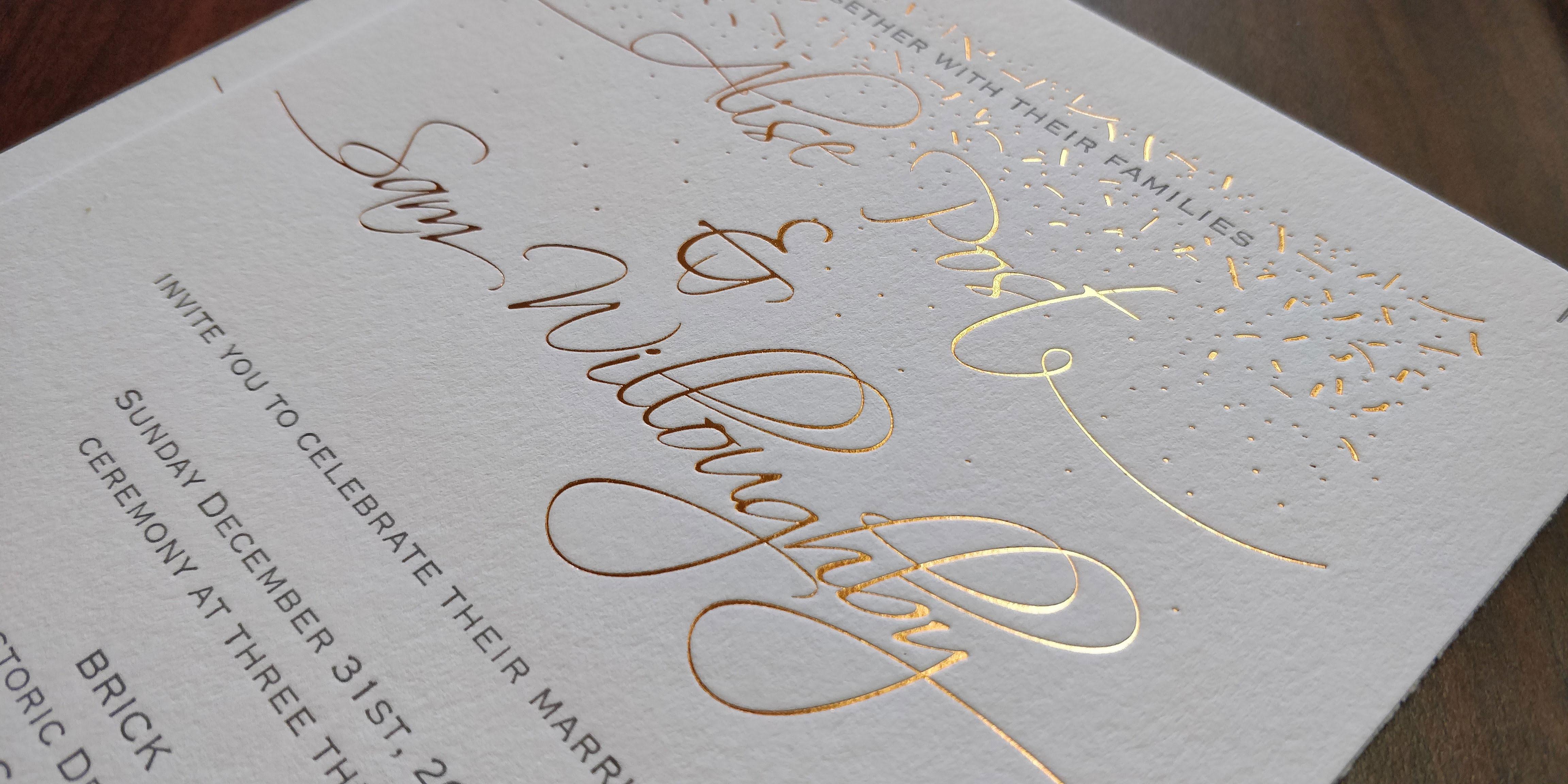 Wedding Invitation with Foil