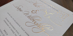 Wedding Invitation with Foil