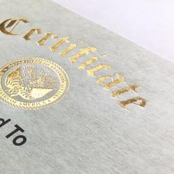 Foil on Certificate
