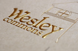 Foil & Embossed Wesley Commons Logo