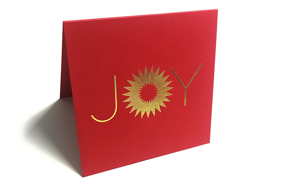 Gold Foil on Card; Designed by Irene Hoffman