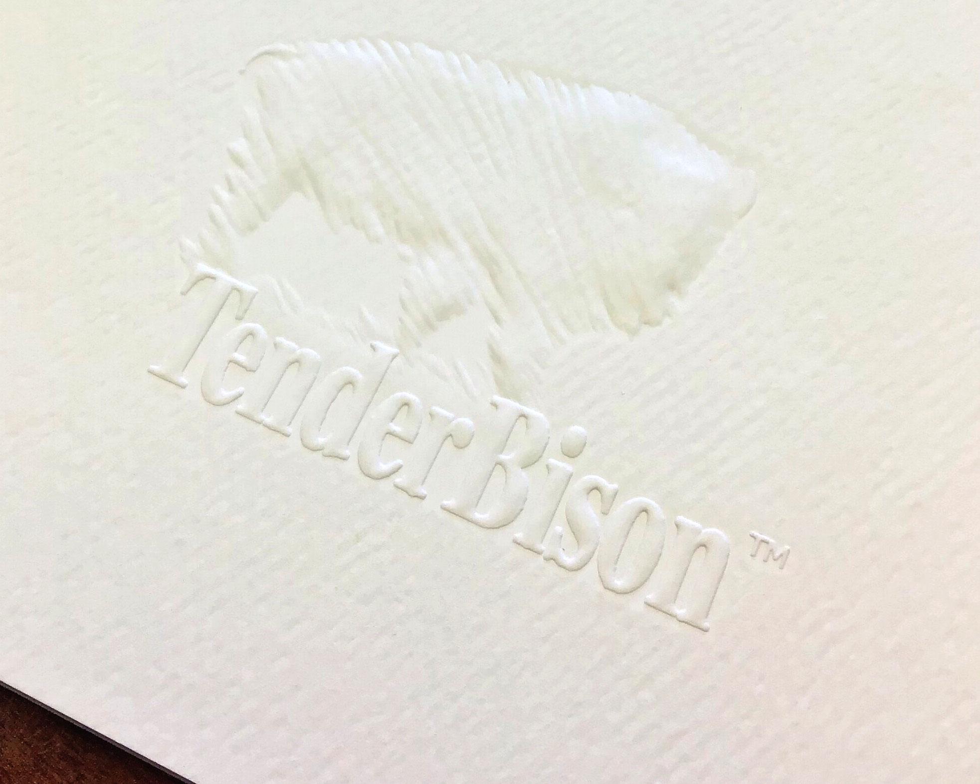Embossed Logo Tender Bison