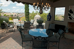 Casa Alegria roof terrace view with seat