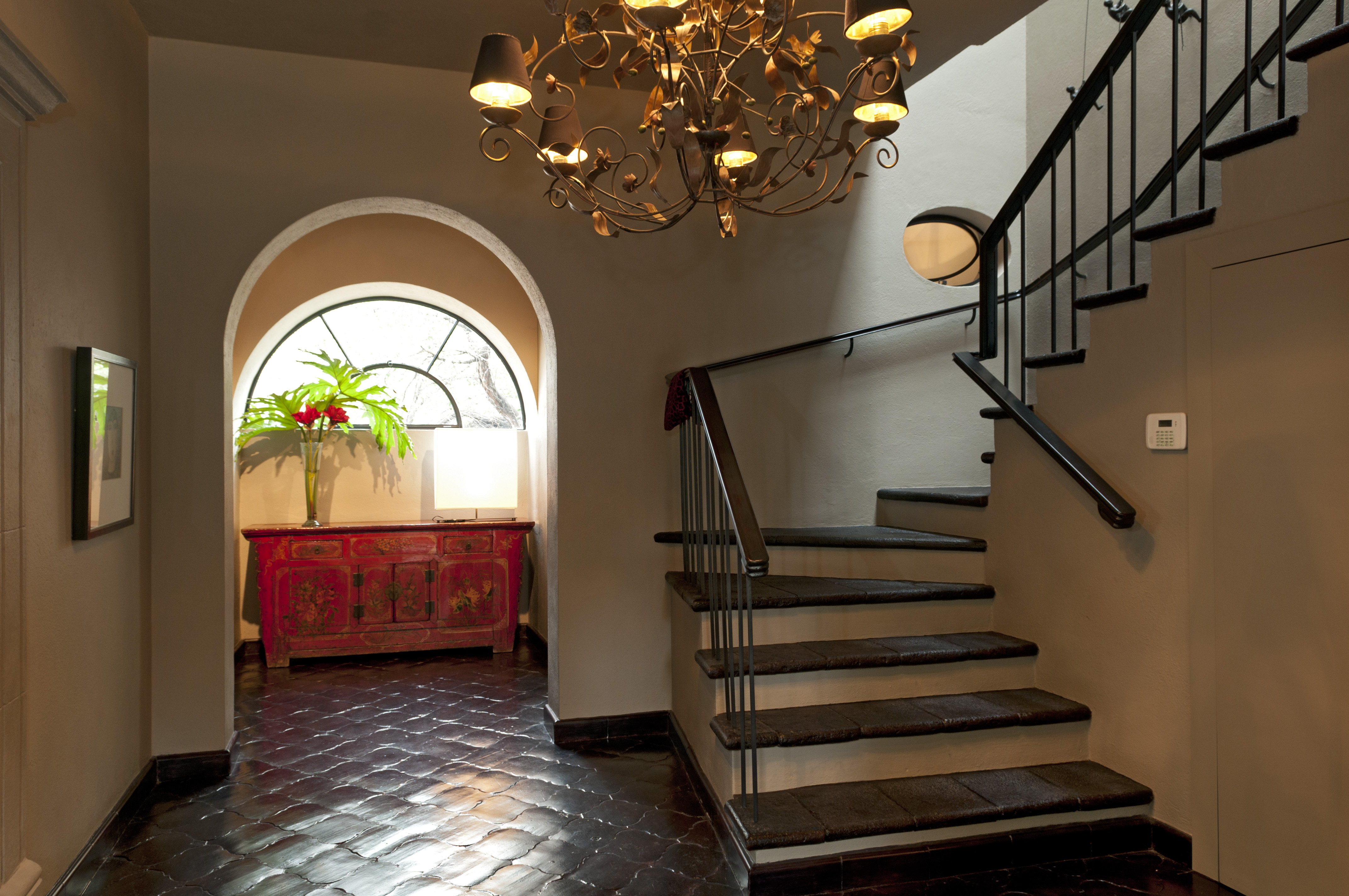 Casa Alegria entry stairway to 2nd floor