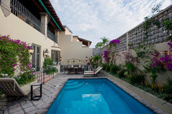 Casa Tres Angeles pool to outdoor grill.