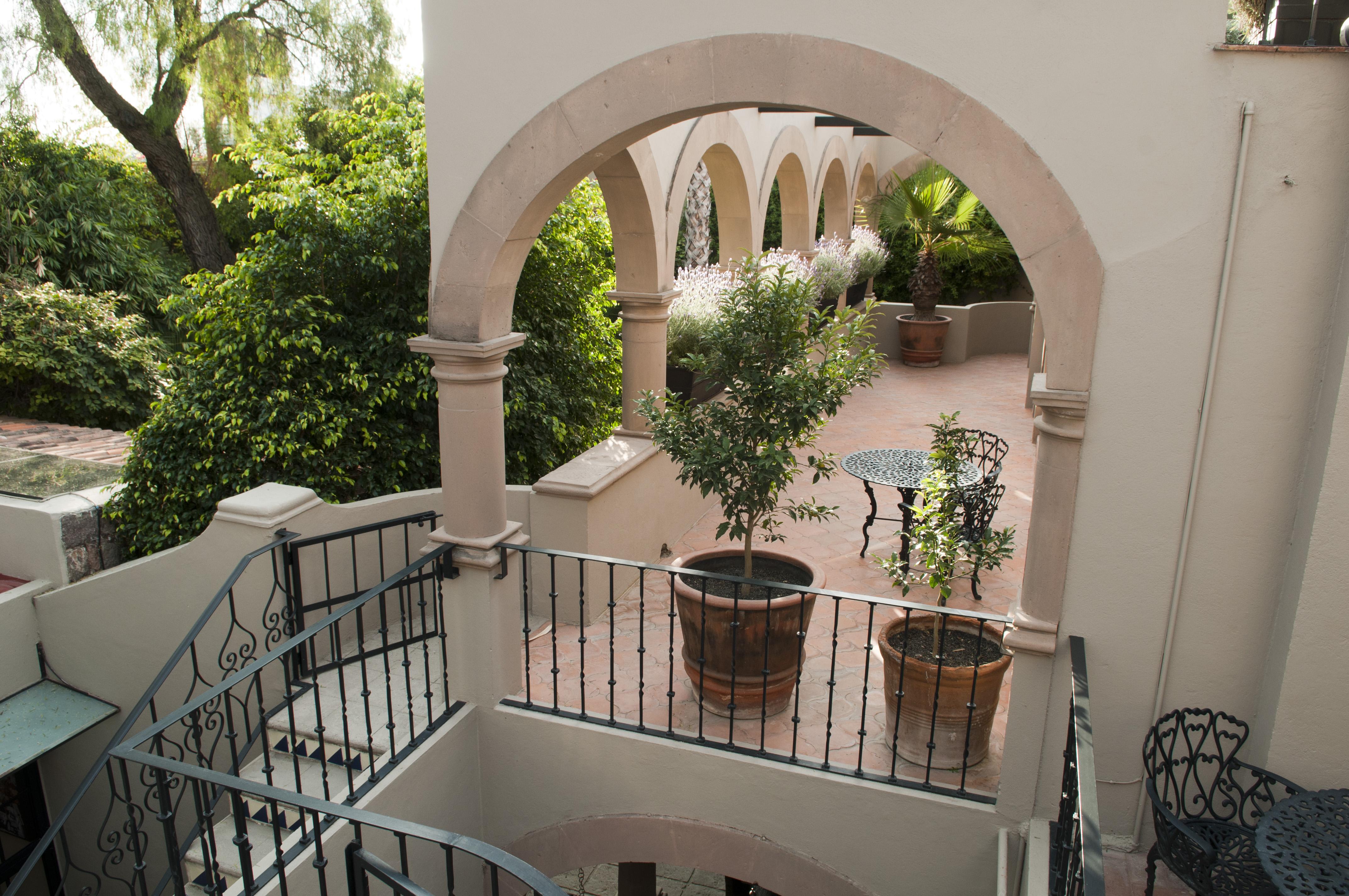 Casa Alegria exterior stairway to 2nd fl