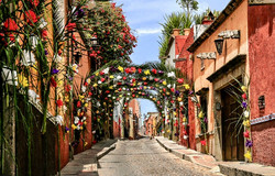 Casa Joanna street during Palm Sunday