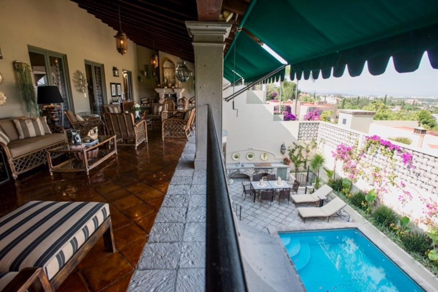 Casa Tres Angeles outdoor sala overlooki