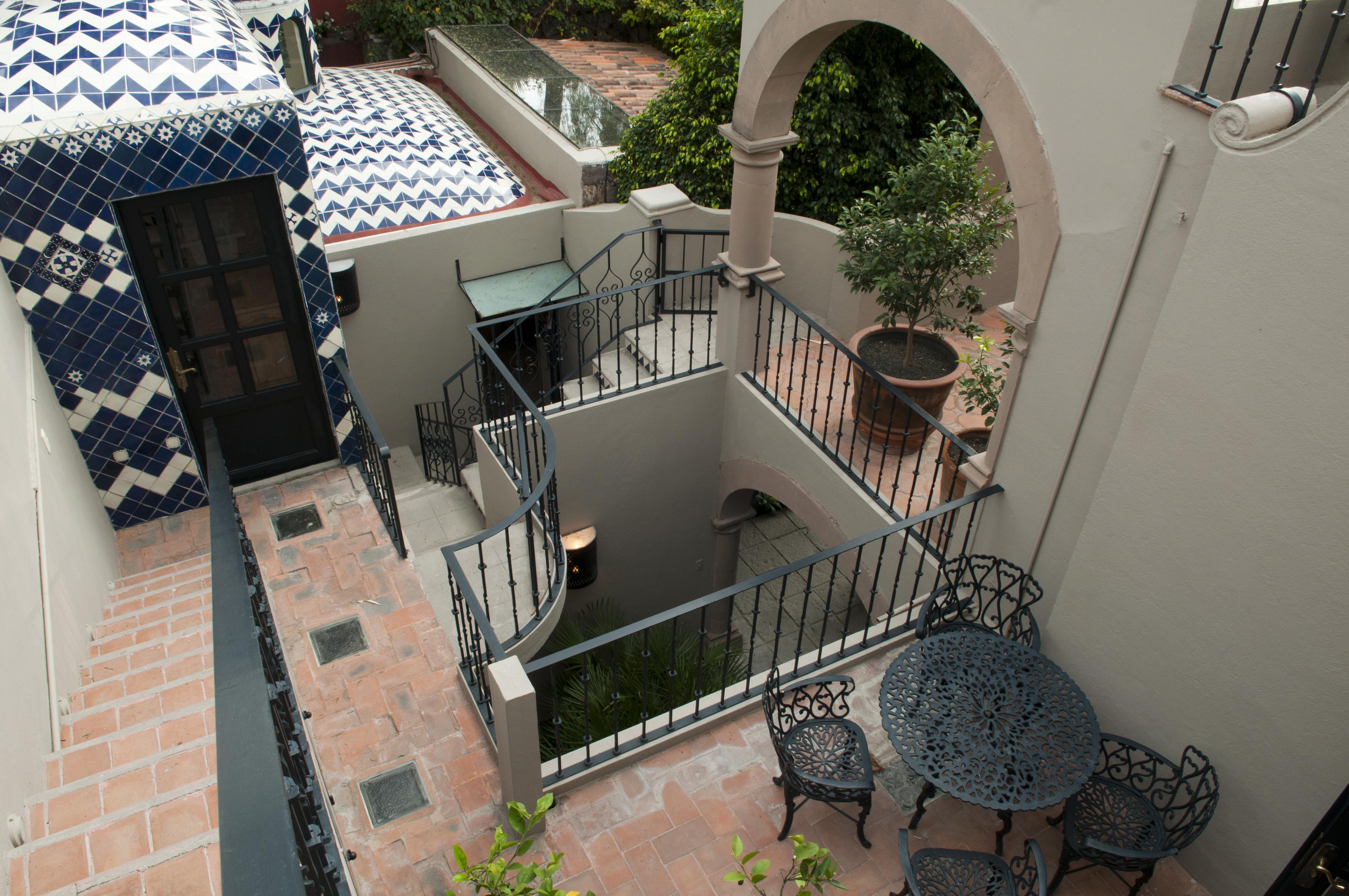 Casa Alegria exterior stairway 2nd floor