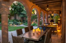 Casa Alegria outdoor sala dining and sea