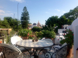 Casa Joanna roof terrace view with dining table