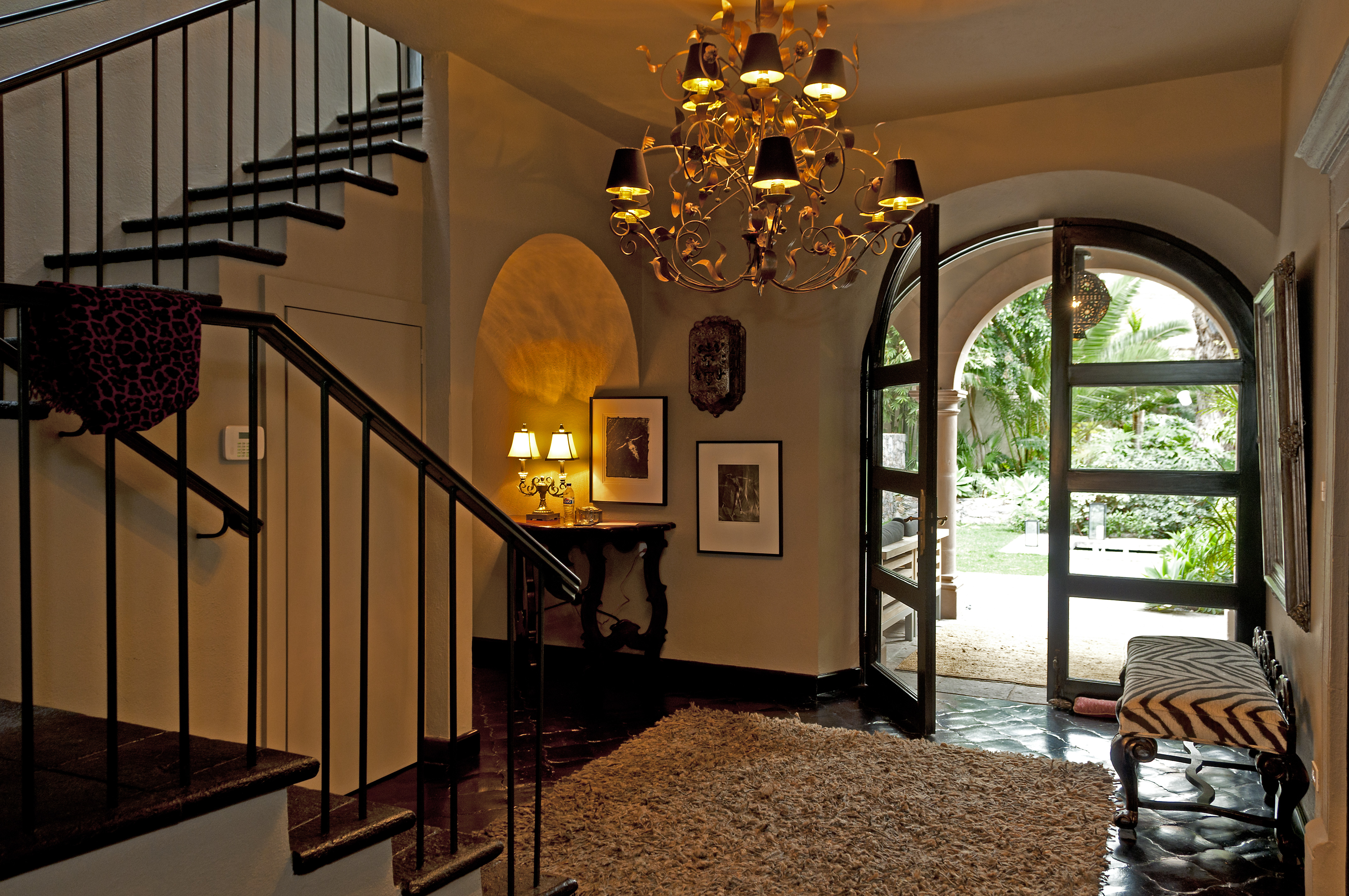 Casa Alegria entry with stairway 1st flo