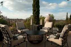 Casa Alegria roof terrace seating table