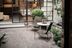 Casa Garita 17B entrance patio garden seating