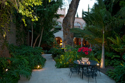 Casa Alegria garden walkway entry with t