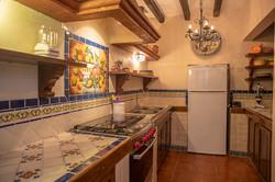 kitchen stove and fridge