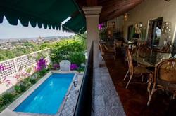 Casa Tres Angeles outdoor sala overlook