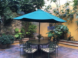 A22 patio main level umbrella table 2017