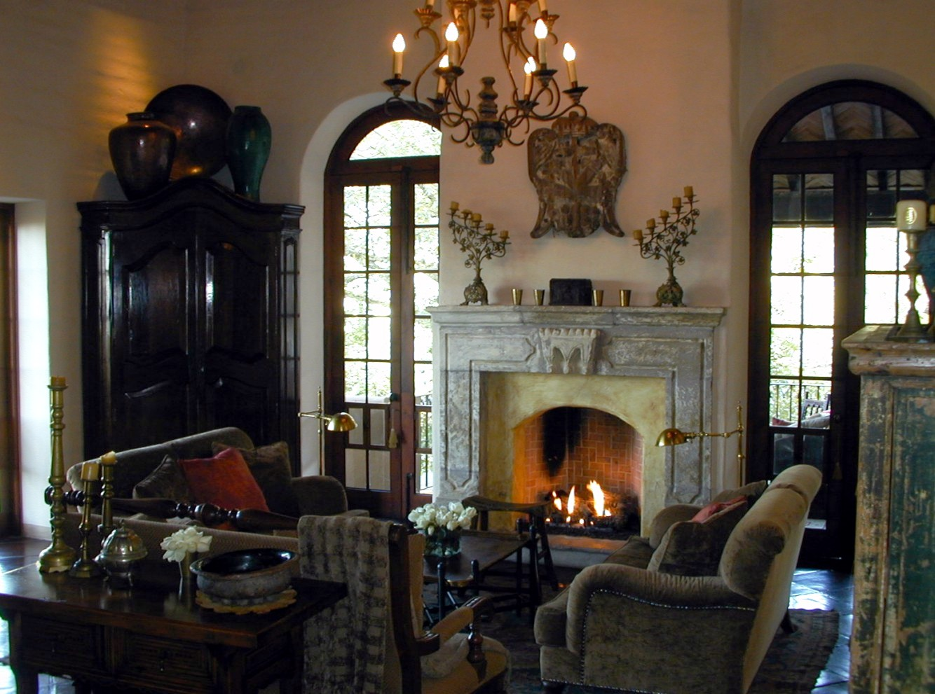 villaelcerrito_15 living room with fireplace