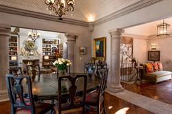 Casa Tres Angeles dining main level