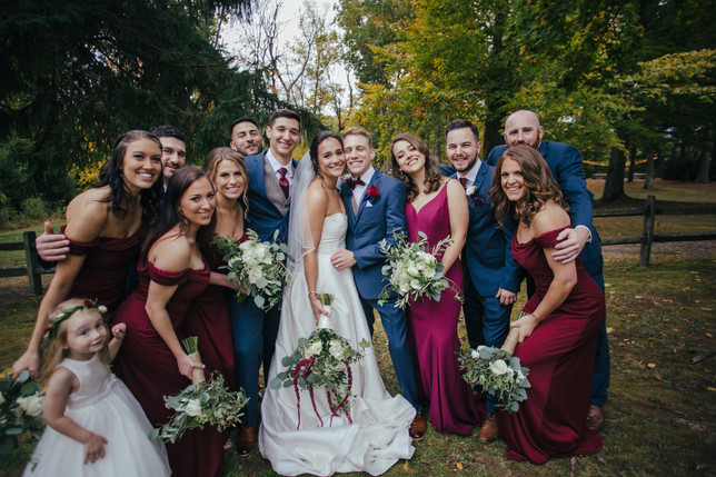 Fall Pavilion at Crystal Lake Wedding