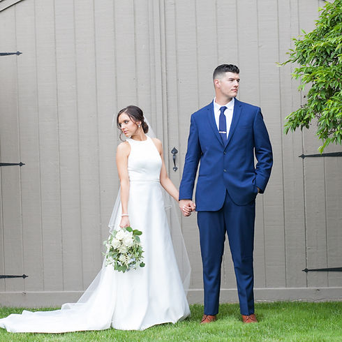 Bride and Groom Portraits at Great River Golf Club