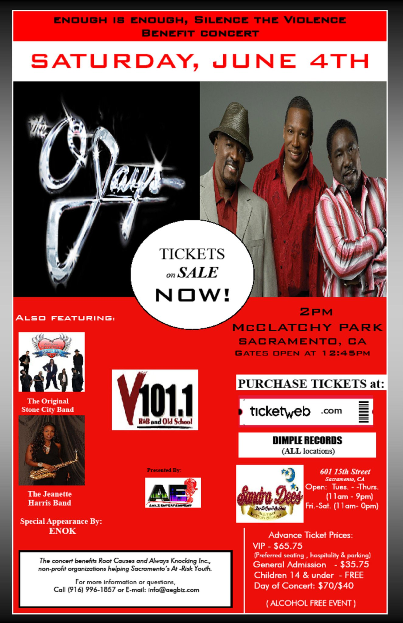 OSCB & O'JAYS IN SAC CA.