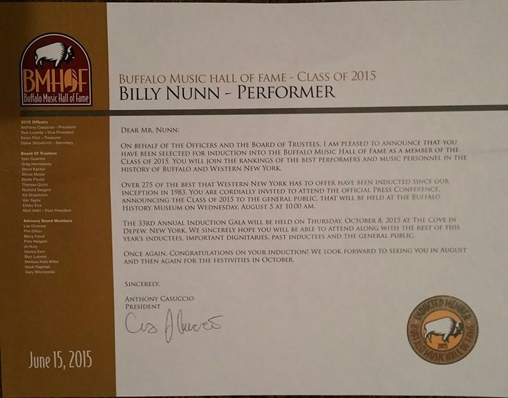 BILLY BMHF AWARD