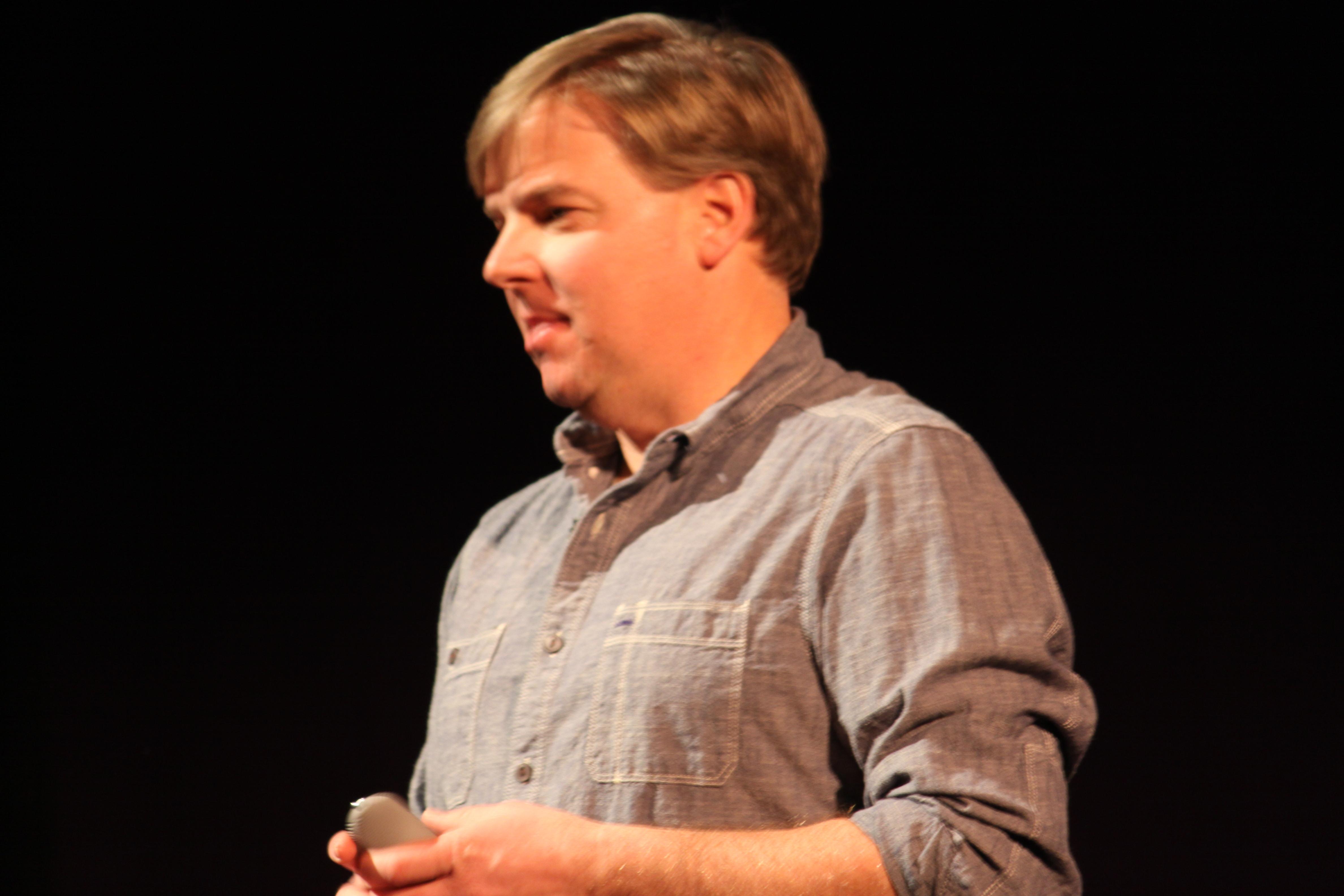 Chip Dayton speaking to students