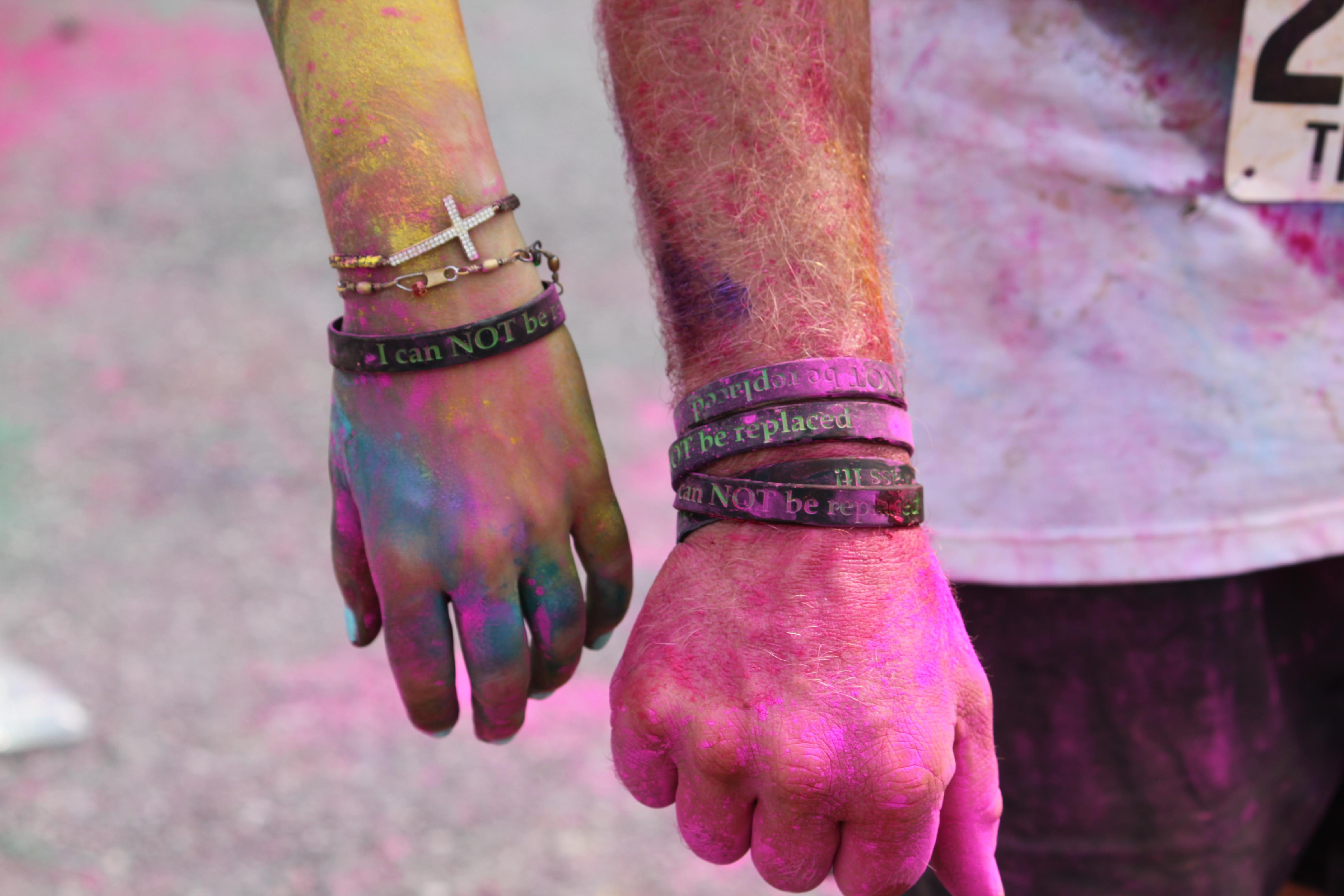 Color Run wristbands