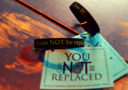 You Can NOT Be Replaced Wristbands