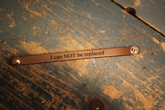 Leather I Can NOT Be Replaced-Deluxe