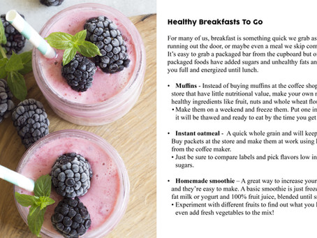 Healthy Meals and Morning Routine
