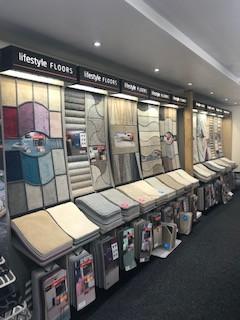 Lifestyle Floors carpet display stands