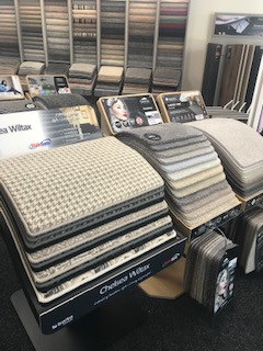 Kings Carpets and Flooring carpet display lecturns