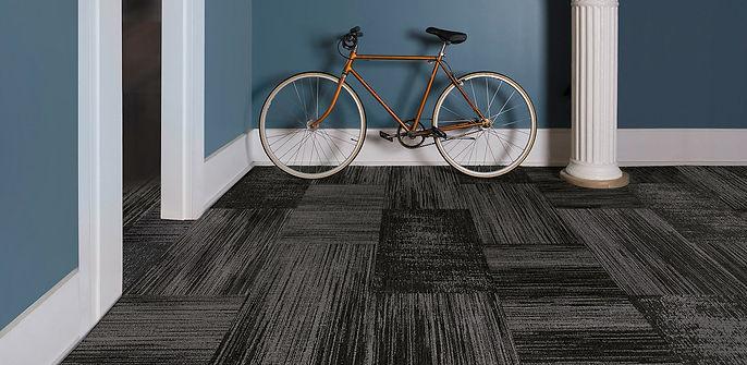 Room shot of carpet tiles in York