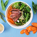 Honey Ginger Beef Bowl
