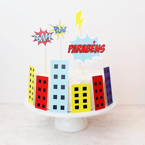 Super-Heróis - Mini Party Box