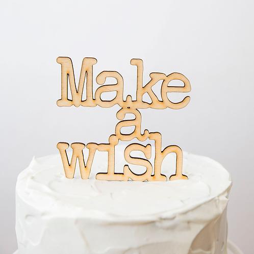 Make a Wish - Topo de Bolo
