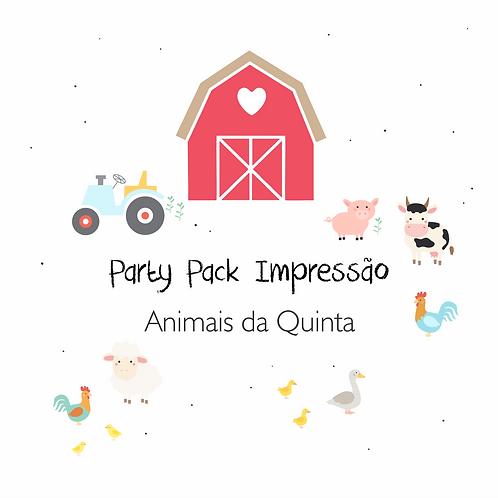 Animais da Quinta - Party Pack Impressão