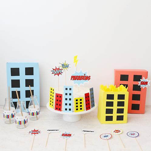 Super-Heróis - Party Box